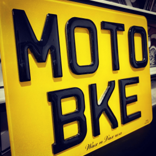 Motorbike number plates