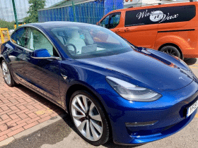 Tesla Model 3 at Wax N Vax